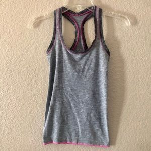 VSX Victorias Secret Striped Active Tank Sz Xs